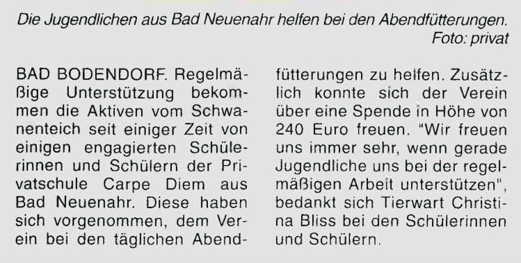 Internat AG Schwanenteich Zeitungsartikel web