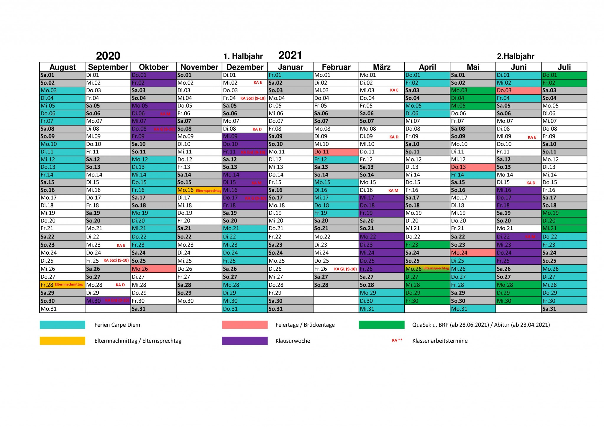 Schuljahreskalender 2020_21 für Eltern
