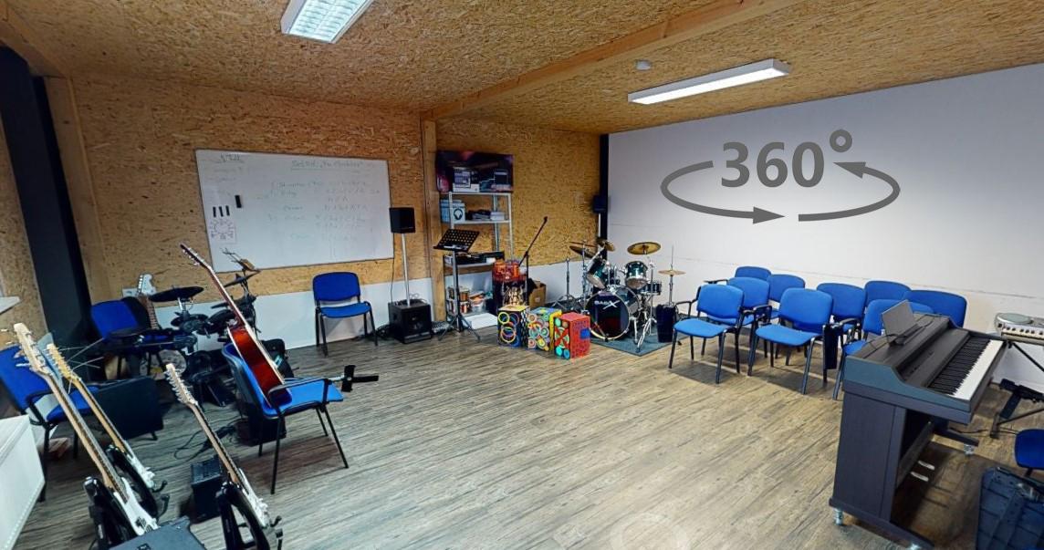 Privatschule Carpe Diem Sporthalle Musikraum 3D Rundgang